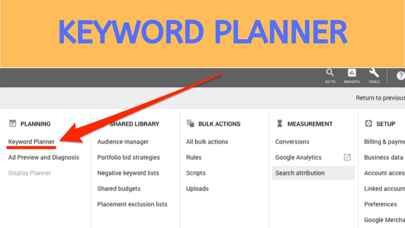 Keyword Planner Online Keyword Research Tool
